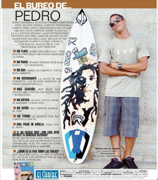 Pedro Fernández, El surfer dominicano de mayor proyección