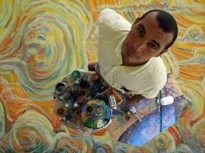 Eric en su estudio