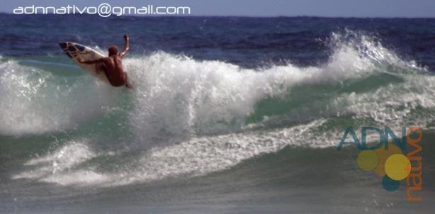 Erika dejó una mañana de surf en Encuentro