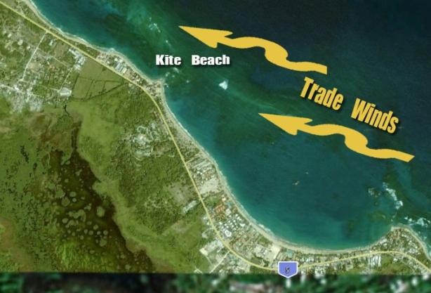 La costa de Cabarete tienen una posición geográfica privilegiada