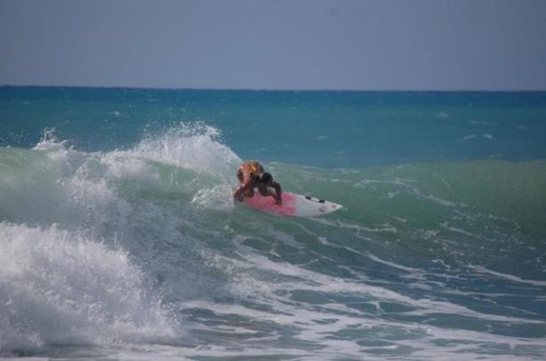 Las cualidades para el surfing de Vanessa se pusieron de manifiesto rápidamente